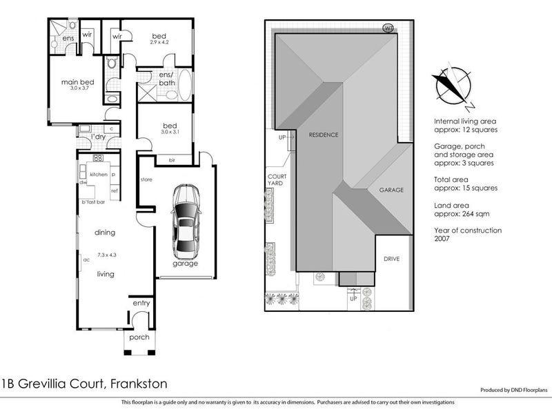 1B Grevillia Court, Frankston, Vic 3199 - floorplan