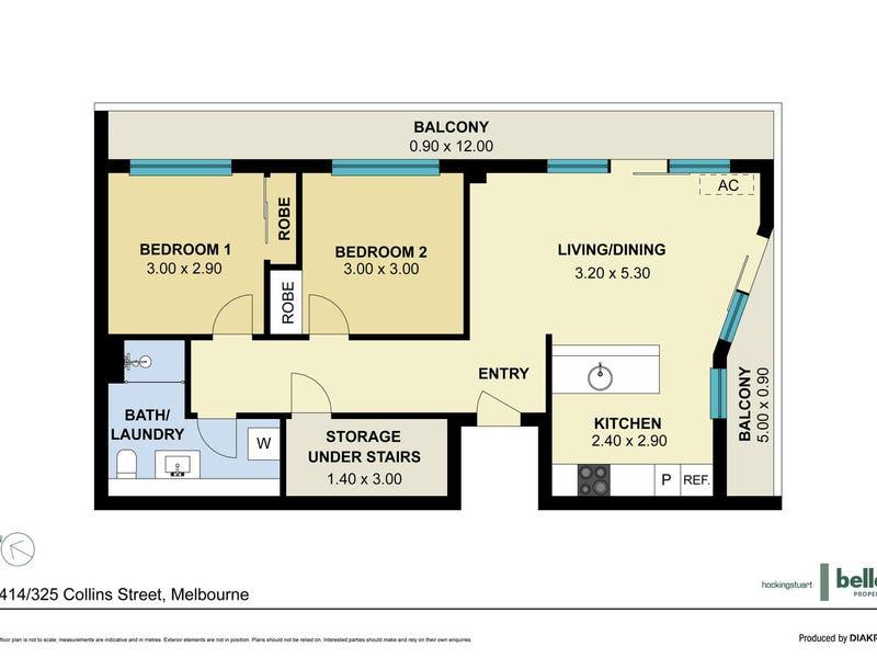 1414/325 Collins Street, Melbourne, Vic 3000 - floorplan