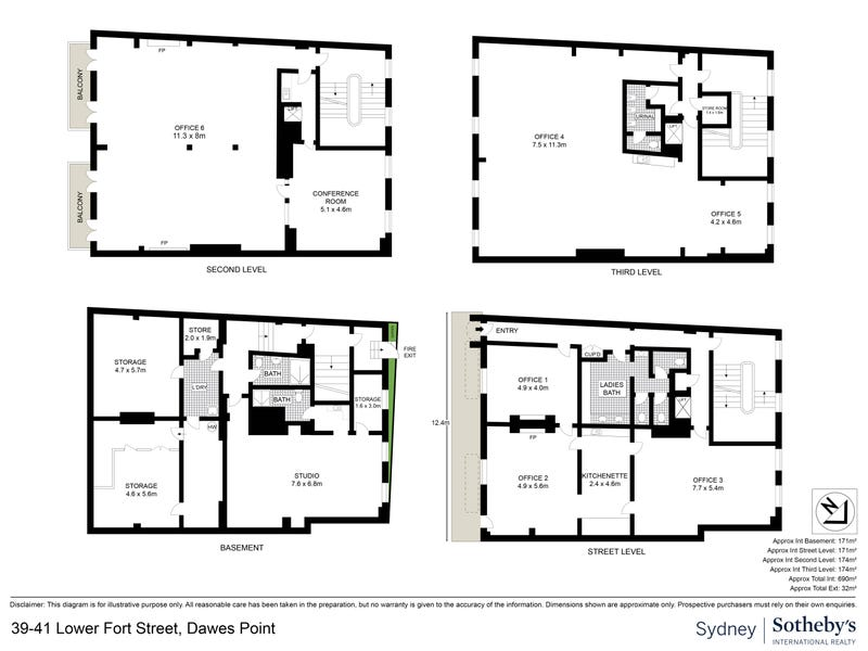 39 - 41  Lower Fort Street, Dawes Point, NSW 2000 - floorplan