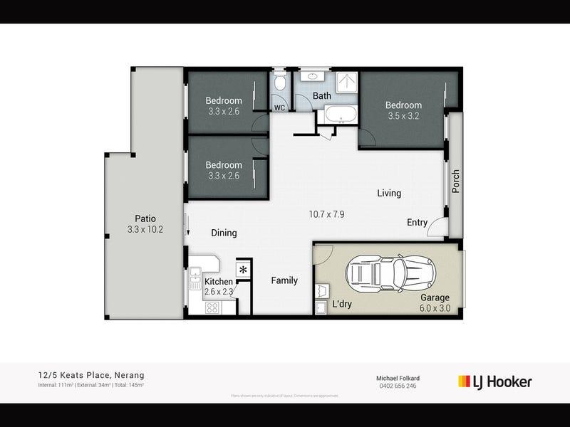 12/5 Keats Place, Nerang, Qld 4211 - floorplan