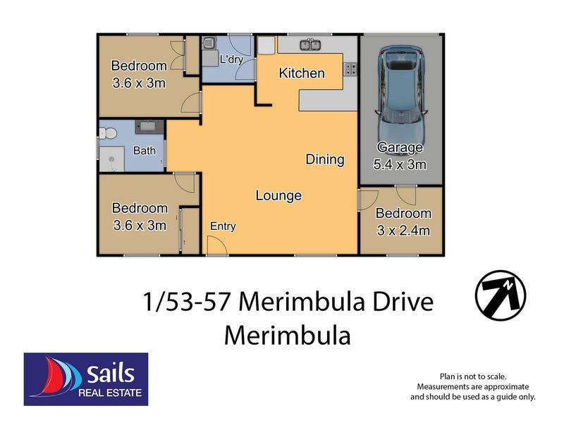 1/55 Merimbula Drive, Merimbula, NSW 2548 - floorplan