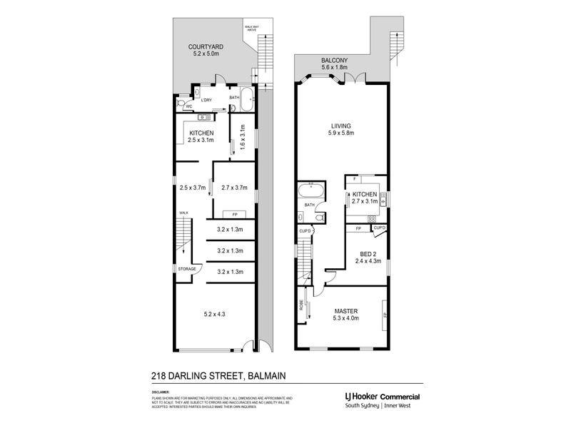 218 Darling Street, Balmain, NSW 2041 - floorplan