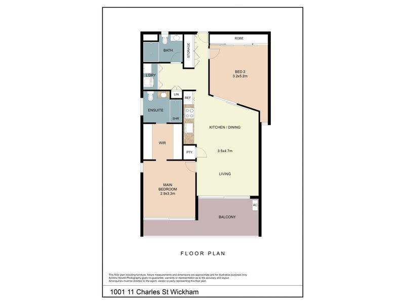 1001/11 Charles Street, Wickham, NSW 2293 - floorplan
