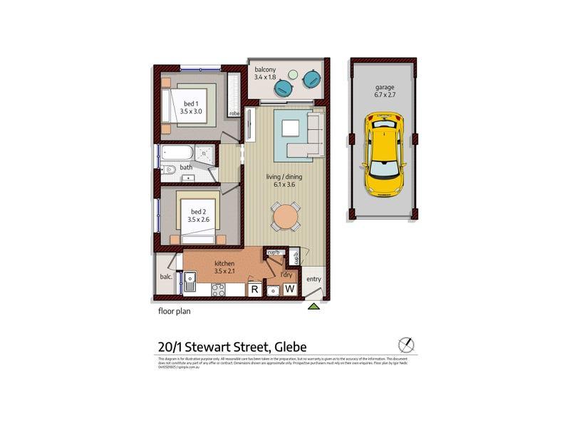 20/1 Stewart Street, Glebe, NSW 2037 - floorplan
