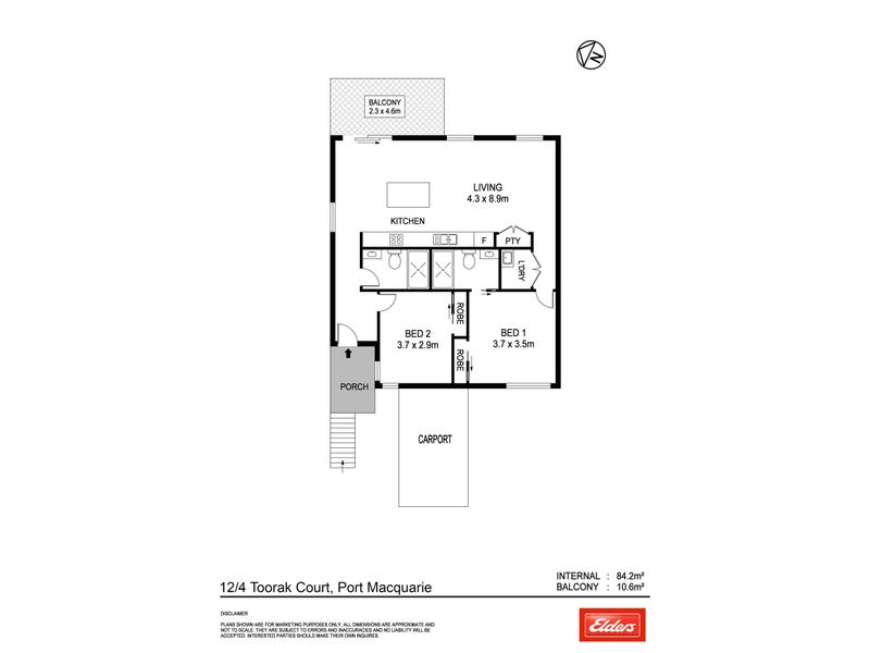 12/4 Toorak Court, Port Macquarie, NSW 2444 - floorplan