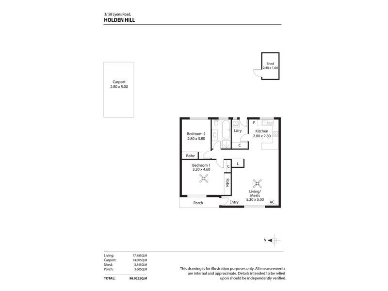 3/58 Lyons Rd, Holden Hill, SA 5088 - floorplan