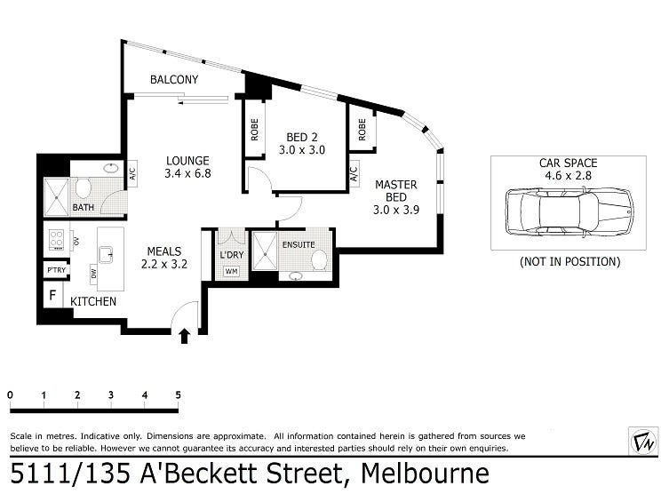 5111/135 A'beckett Street, Melbourne, Vic 3000 - floorplan