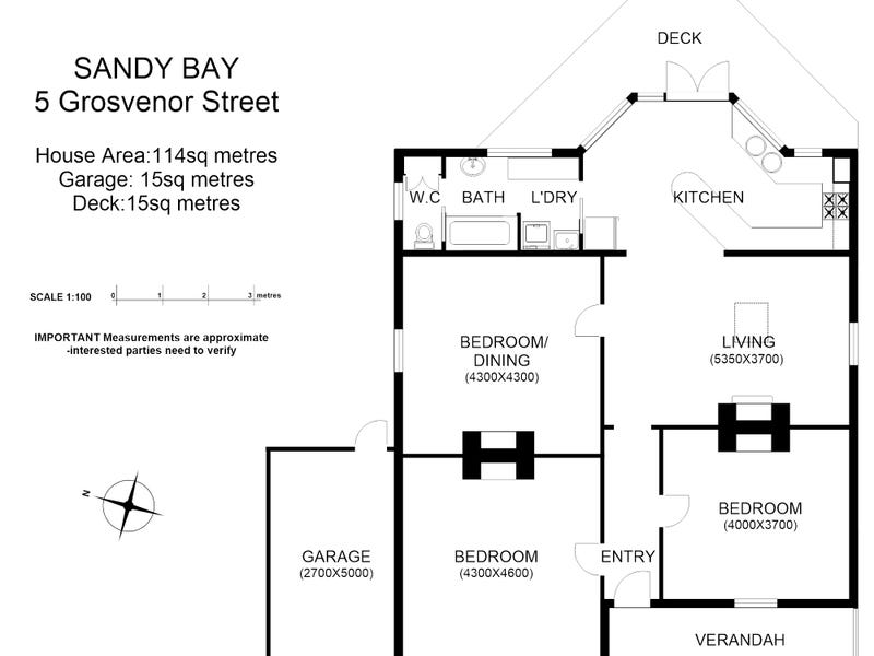 5 Grosvenor Street, Sandy Bay, Tas 7005 - floorplan