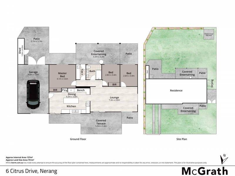 6 Citrus Drive, Nerang, Qld 4211 - floorplan