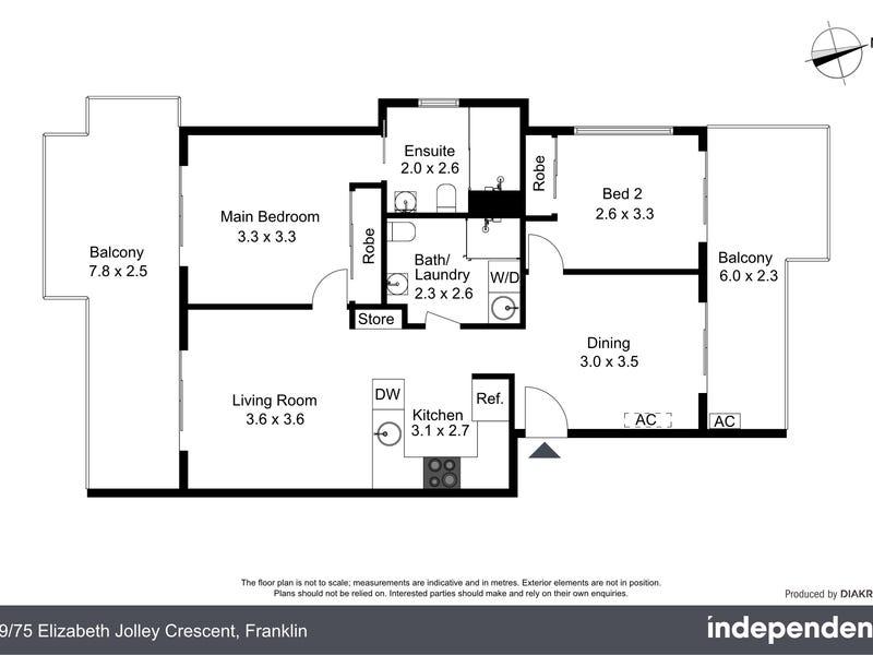 99/75 Elizabeth Jolley Crescent, Franklin, ACT 2913 - floorplan