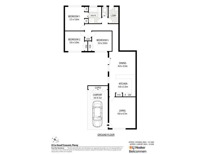 25 Le Souef Crescent, Florey, ACT 2615 - floorplan