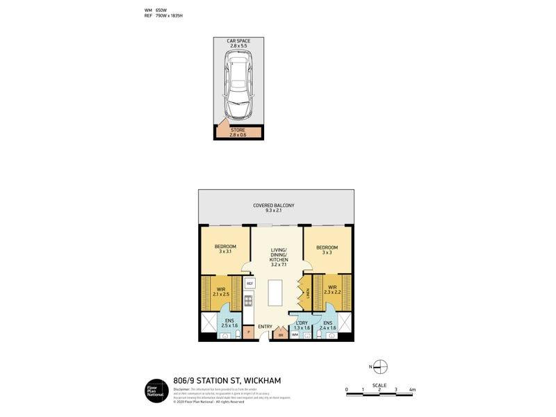 806/9 Station Street, Wickham, NSW 2293 - floorplan