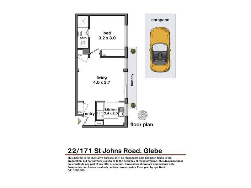 22/171 St Johns Road, Glebe, NSW 2037 - floorplan