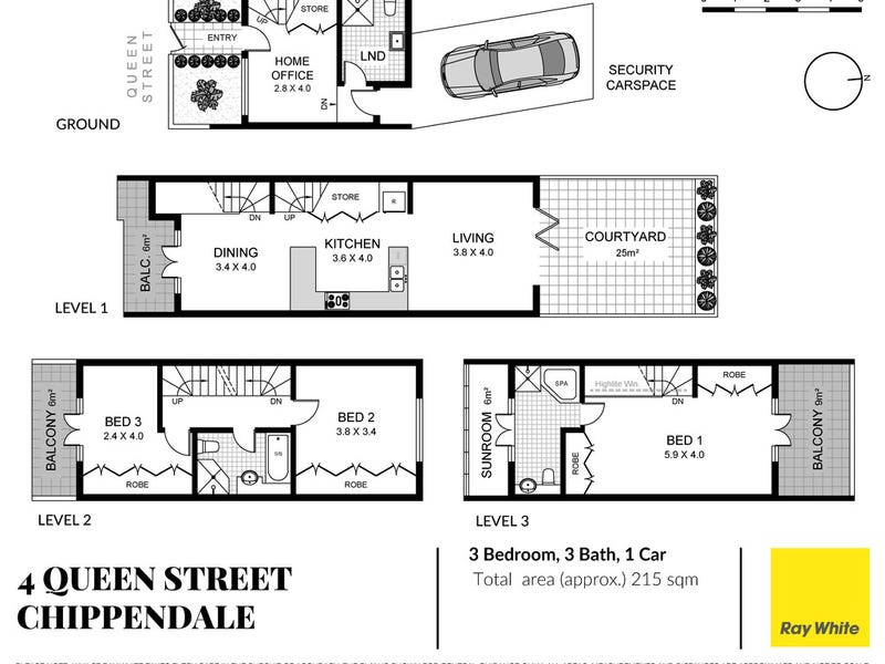4 Queen Street, Chippendale, NSW 2008 - floorplan