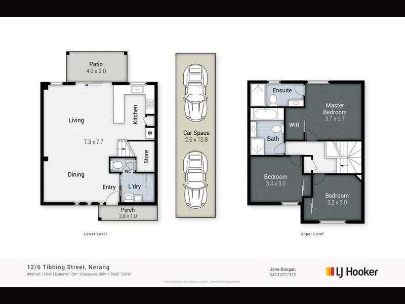 12/6 Tibbing Street, Nerang, Qld 4211 - floorplan
