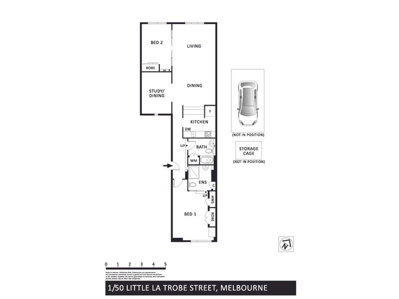 1/50 Little La Trobe Street, Melbourne, Vic 3000 - floorplan