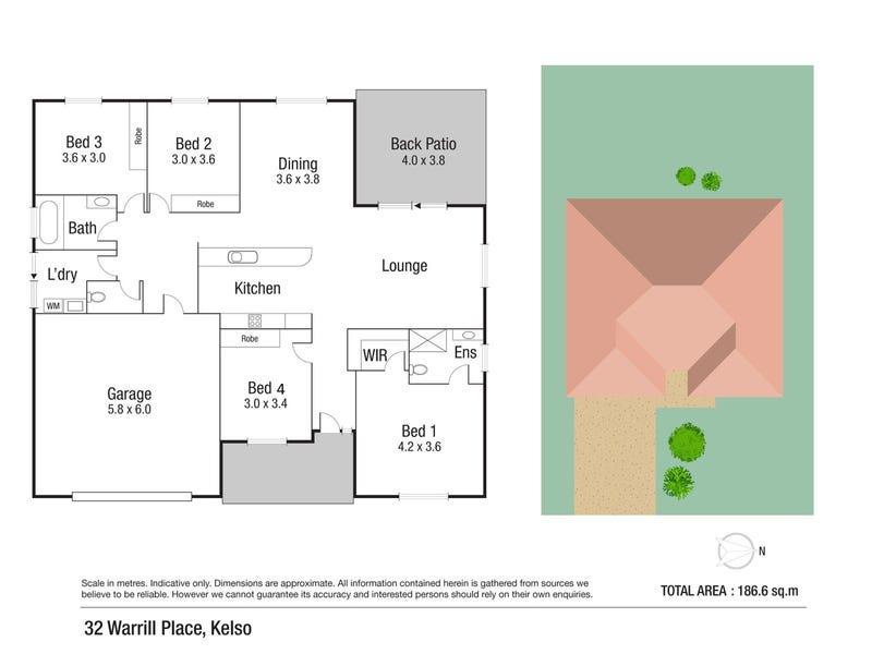 32 Warrill Place, Kelso, Qld 4815 - floorplan