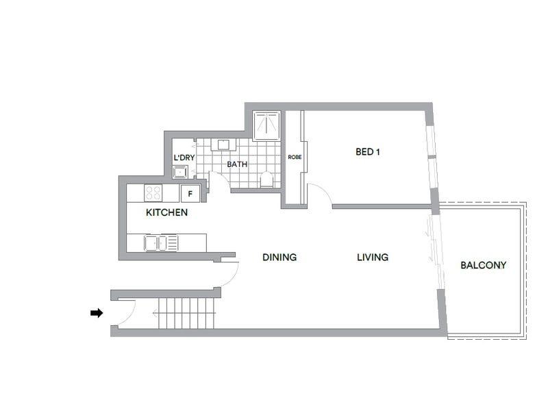 143/77 Northbourne Avenue, Turner, ACT 2612 - floorplan