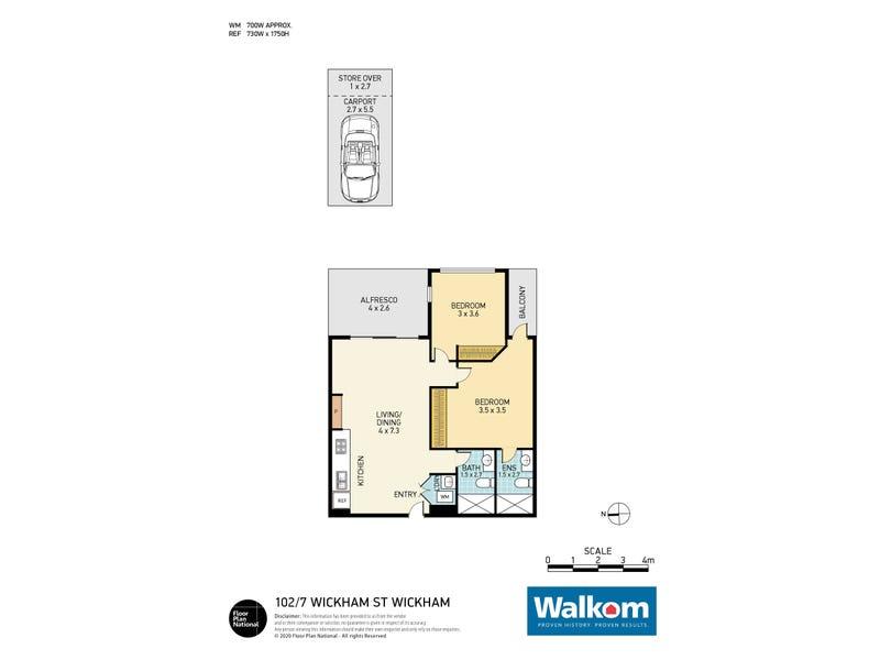 102/7 Wickham Street, Wickham, NSW 2293 - floorplan