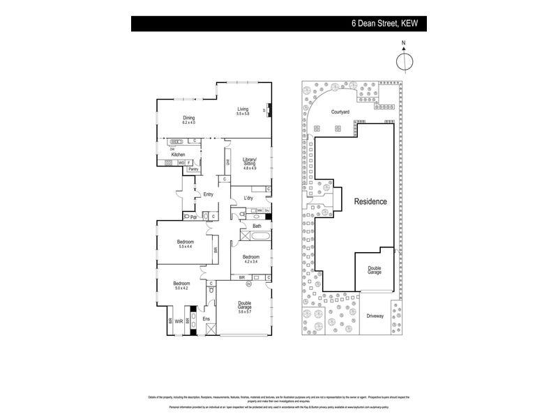 6 Dean Street, Kew, Vic 3101 - floorplan