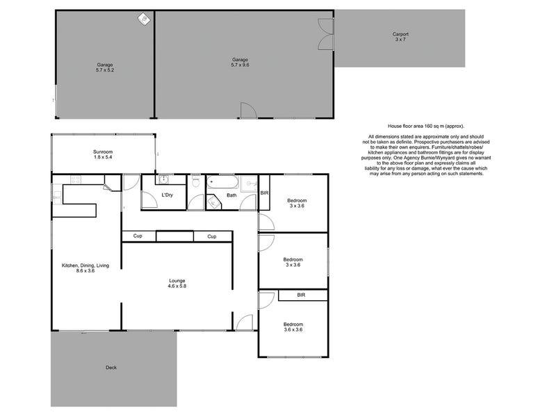 529 Nine Mile Road, West Pine, Tas 7316 - floorplan