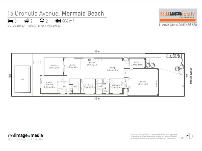 15 Cronulla Avenue, Mermaid Beach, Qld 4218 - floorplan