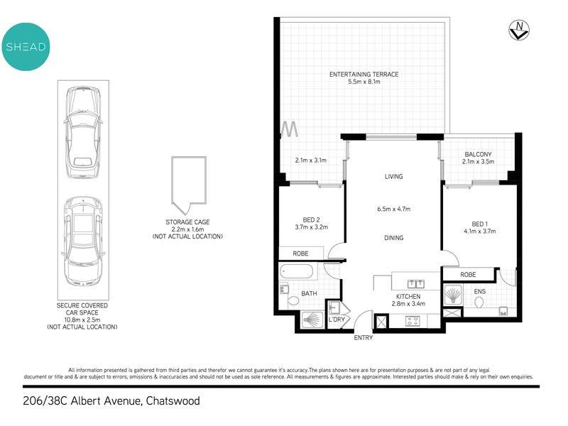 206/38C Albert Avenue, Chatswood, NSW 2067 - floorplan