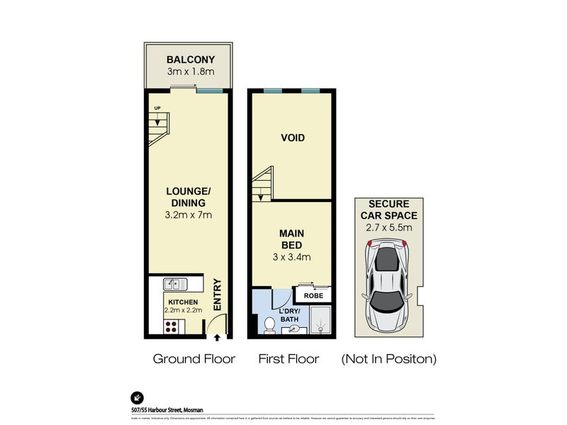 507/55 Harbour Street, Mosman, NSW 2088 - floorplan