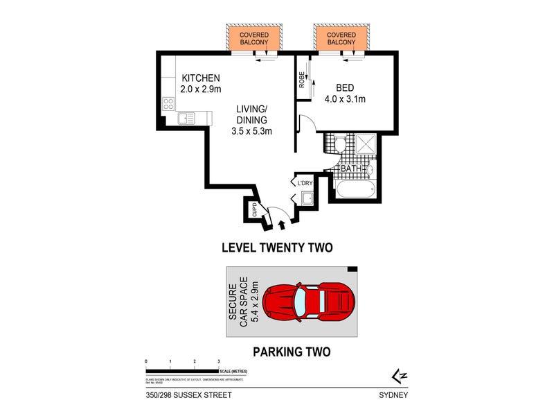 350/298 Sussex Street, Sydney, NSW 2000 - floorplan