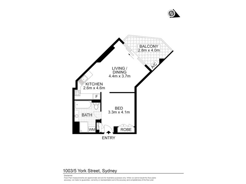 1003/5 York Street, Sydney, NSW 2000 - floorplan
