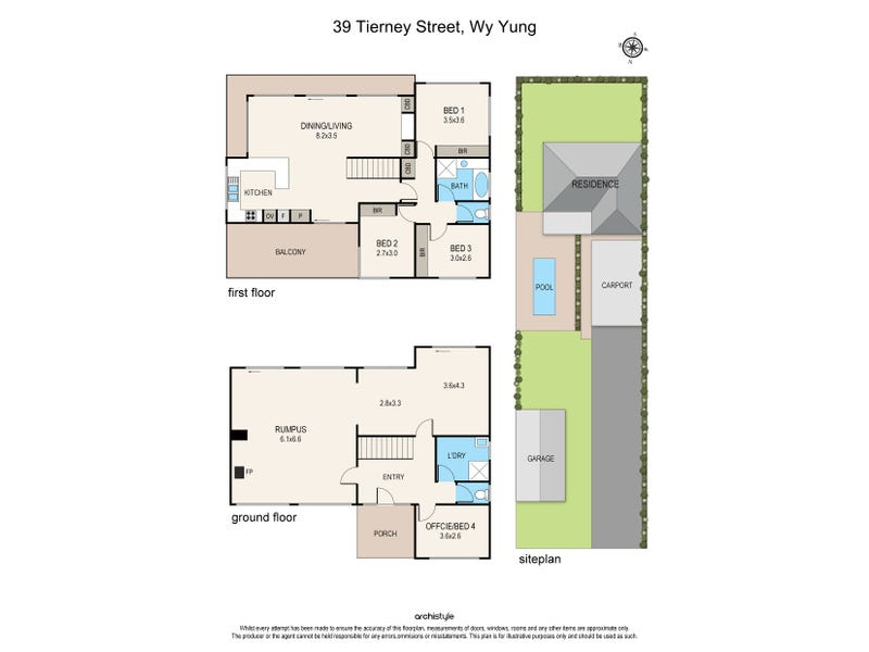 39 Tierney Street, Wy Yung, Vic 3875 - floorplan