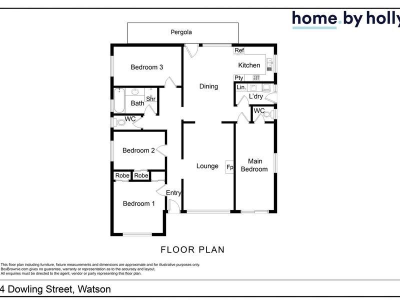 4 Dowling Street, Watson, ACT 2602 - floorplan