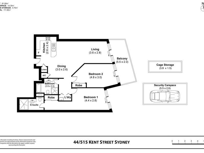 Level 15/515 Kent St, Sydney, NSW 2000 - floorplan