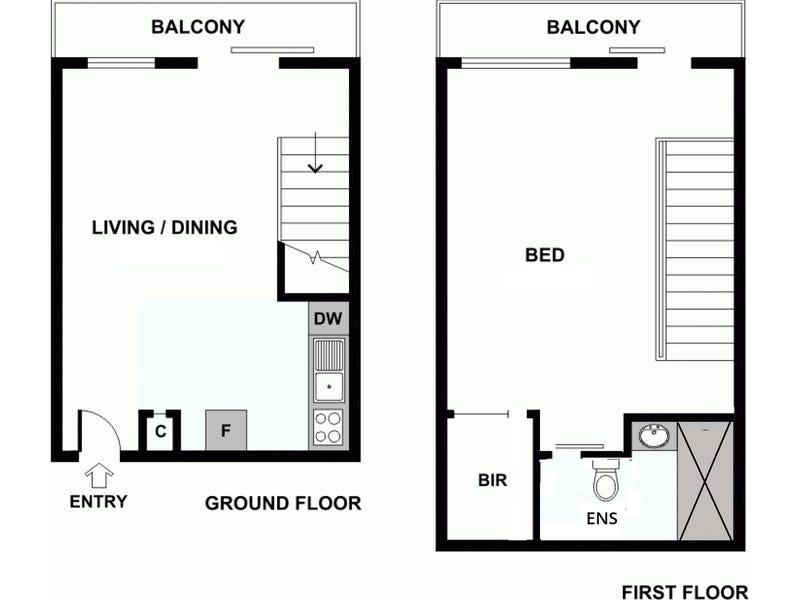 602/9 Bligh Place, Melbourne, Vic 3000 - floorplan