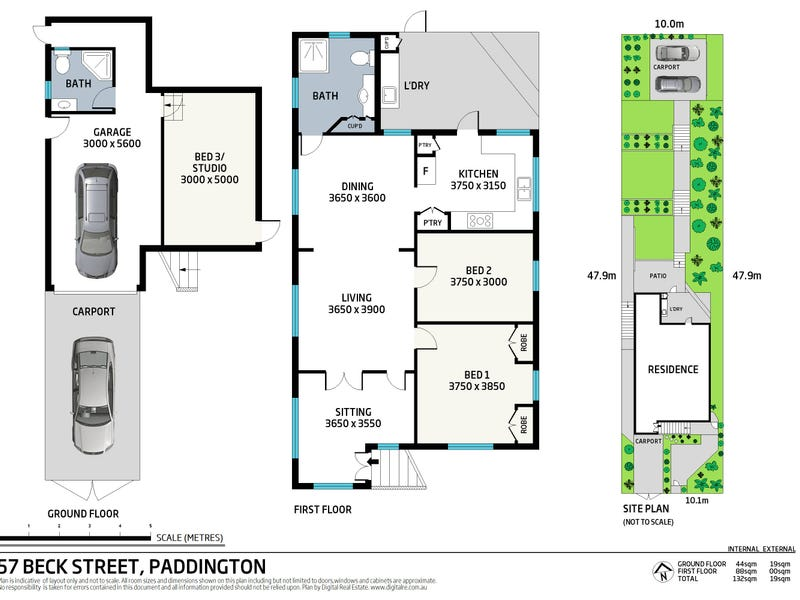 57 Beck Street, Paddington, Qld 4064 - floorplan