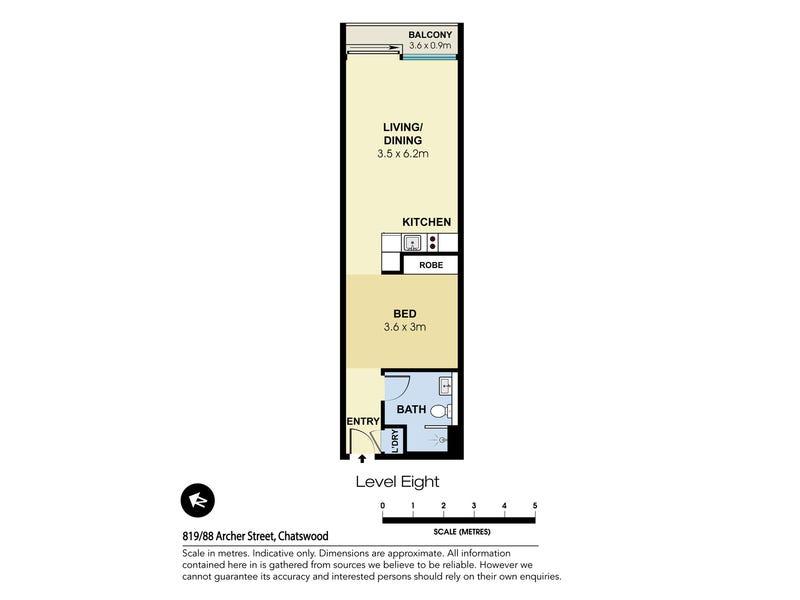 819/88 Archer Street, Chatswood, NSW 2067 - floorplan