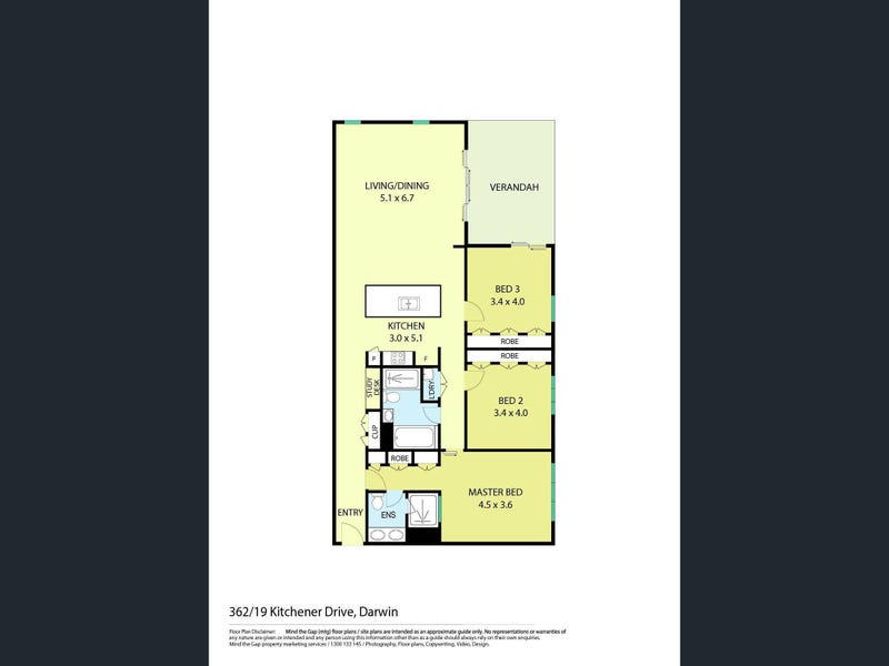 362/19 Kitchener Drive, Darwin City, NT 0800 - floorplan