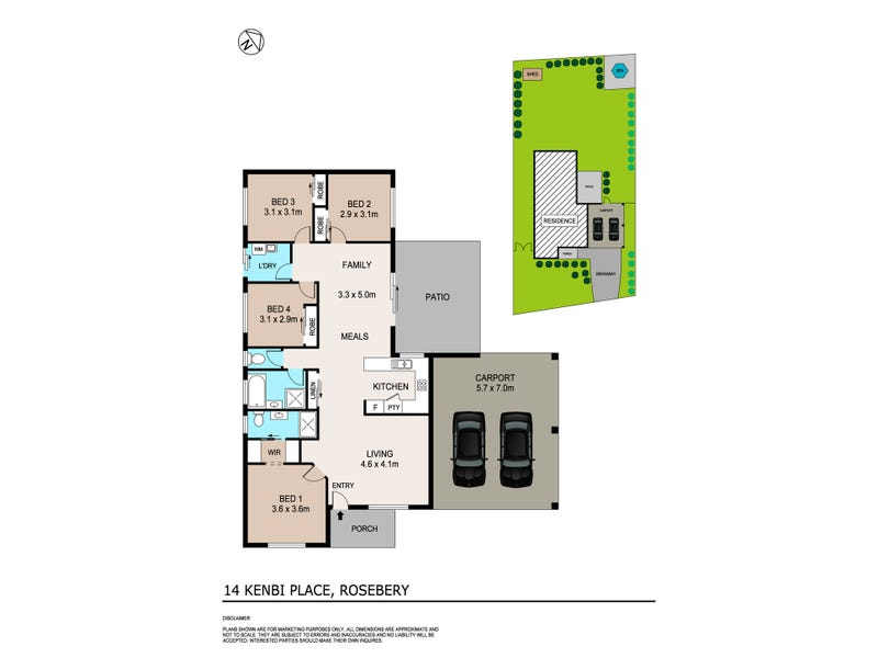 14 Kenbi Place, Rosebery, NT 0832 - floorplan