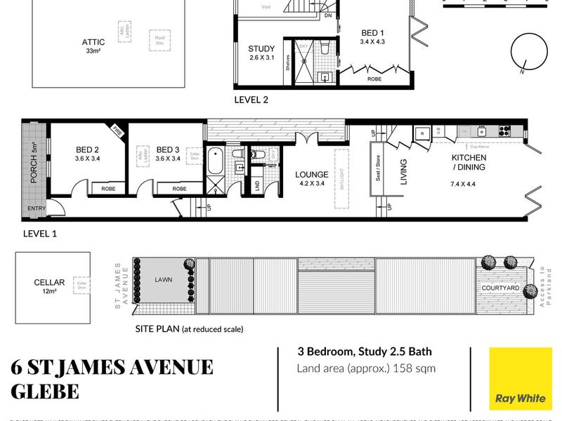 6 St James Avenue, Glebe, NSW 2037 - floorplan