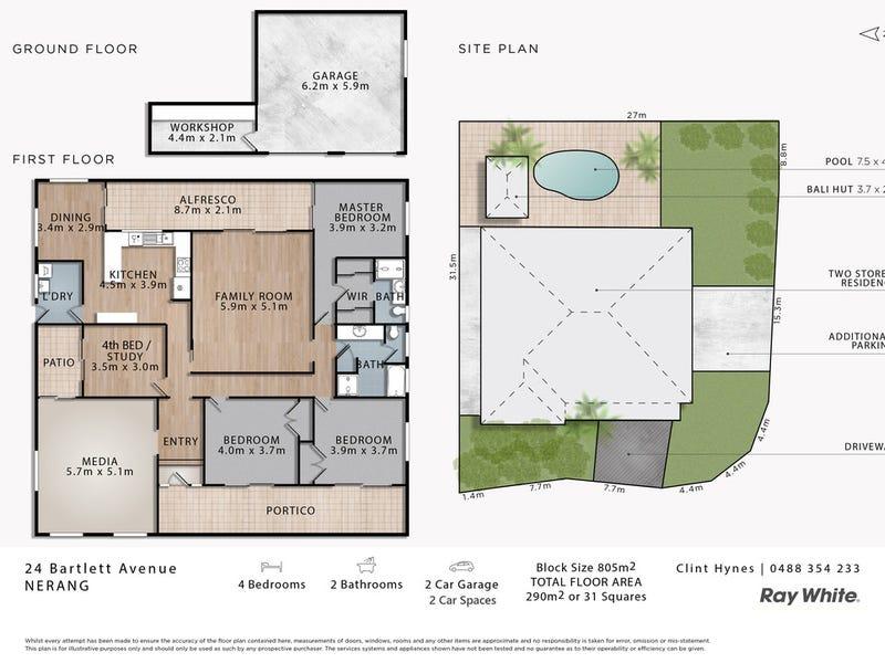 24 Bartlett Avenue, Nerang, Qld 4211 - floorplan