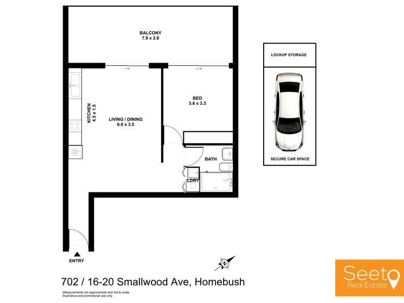 702/16-20 Smallwood Avenue, Homebush, NSW 2140 - floorplan