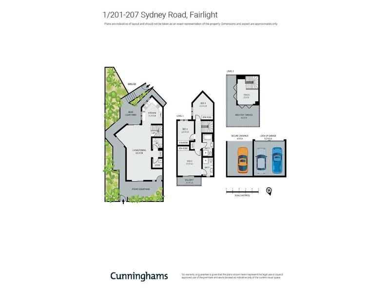1/201-207 Sydney Road, Fairlight, NSW 2094 - floorplan