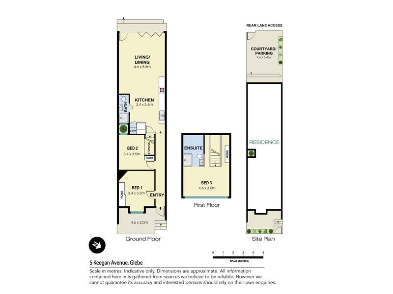 5 Keegan Avenue, Glebe, NSW 2037 - floorplan