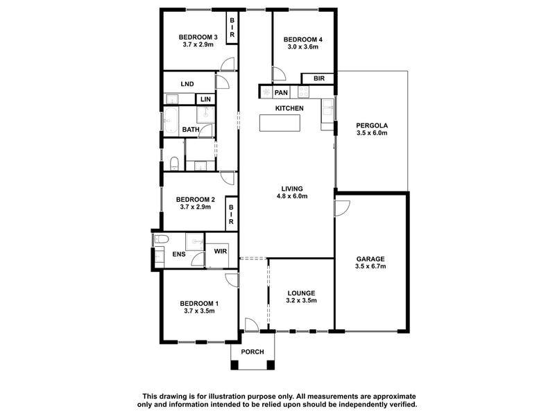 42 Hakea Drive, Millicent, SA 5280 - floorplan