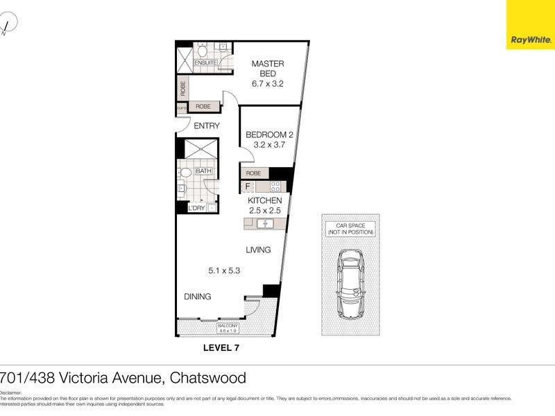 701/438 Victoria Avenue, Chatswood, NSW 2067 - floorplan