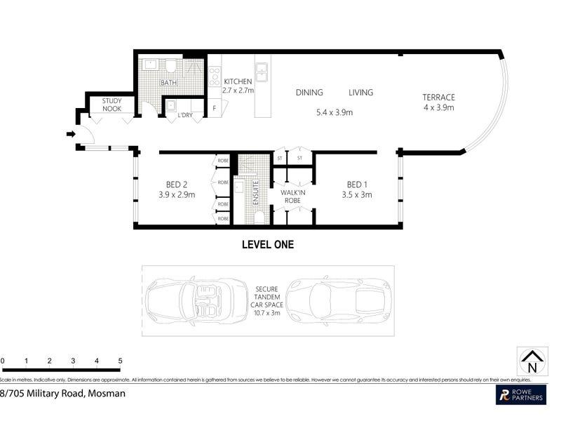 8/705 Military Road, Mosman, NSW 2088 - floorplan