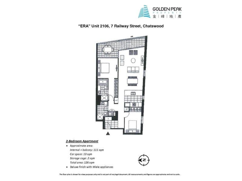 2106/7 Railway Street, Chatswood, NSW 2067 - floorplan