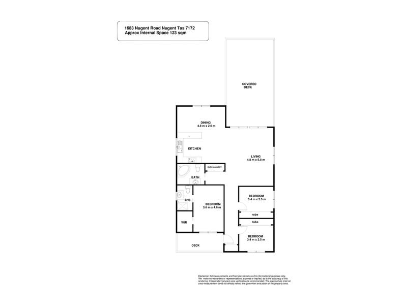 1683 Nugent Road, Nugent, Tas 7172 - floorplan