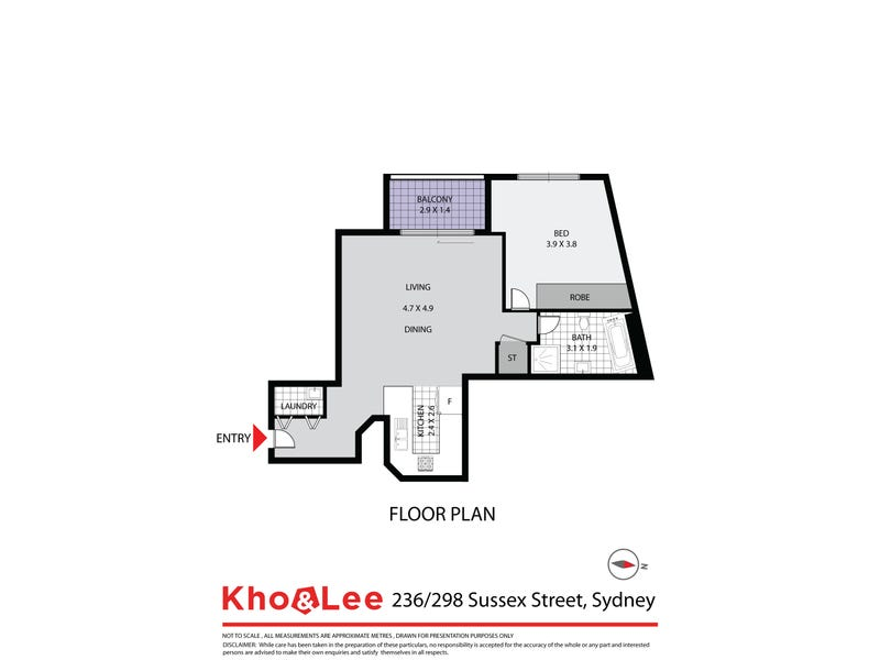 236/298 Sussex Street, Sydney, NSW 2000 - floorplan