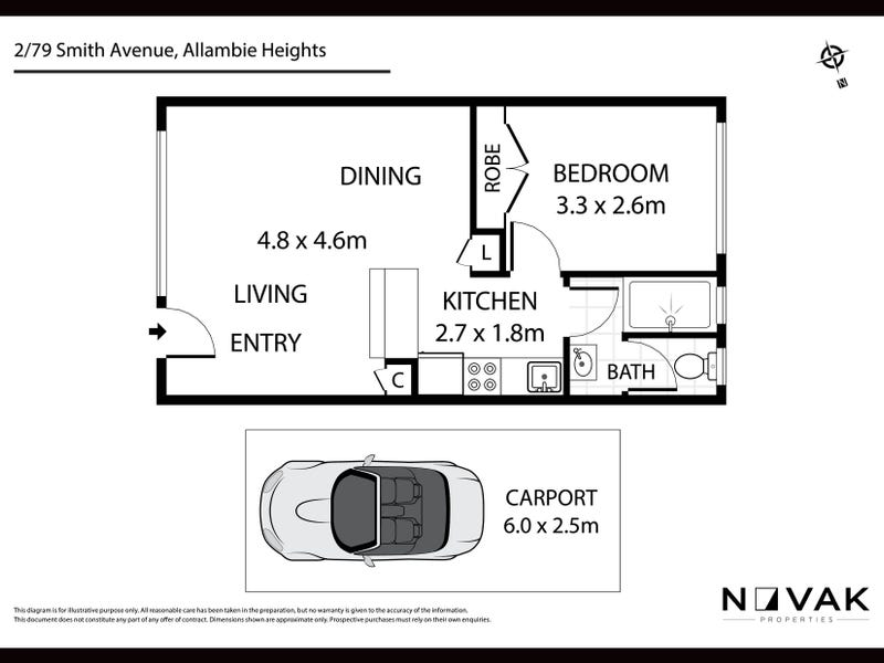 2/79 Smith Avenue, Allambie Heights, NSW 2100 - floorplan